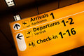 Airport information sign Royalty Free Stock Photo