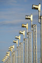 Airport lights Royalty Free Stock Photo