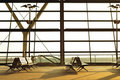 Airport Lounge in the morning Royalty Free Stock Photography