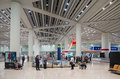 Airport luggage claim area in Beijing Royalty Free Stock Photo