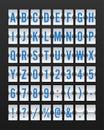 Airport Mechanical Flip Board Panel Font
