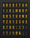 Airport Mechanical Flip Board Panel Font Royalty Free Stock Photo