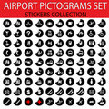 Airport pictogram set Royalty Free Stock Photography