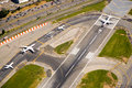 Airport runway airplanes Royalty Free Stock Photo