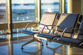 Airport seating area Royalty Free Stock Photo