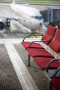 Airport seating Royalty Free Stock Photo