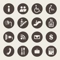 Airport services icons infomation Stock Photos