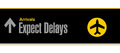 Airport sign expect delays illustration design over a white background Royalty Free Stock Image