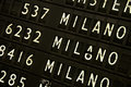 Airport sign - Flight Information Royalty Free Stock Photo