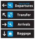 Airport signs vector illustration of the icons Royalty Free Stock Photography