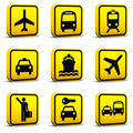Airport Style Icons Set 01 Royalty Free Stock Photo