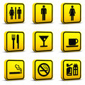 Airport Style Icons Set 03 Royalty Free Stock Image