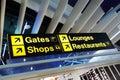 Airport Terminal Direction Sign