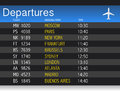 Airport time Departure table illustration design Stock Photo
