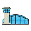 Airport tower control icon