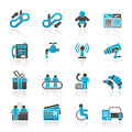 Airport travel and transportation icons vector icon set Royalty Free Stock Images