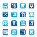 Airport travel and transportation icons vector icon set Royalty Free Stock Photos