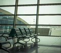 Airport waiting area, seats Royalty Free Stock Photo