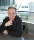 Airport waiting pokój mężczyzna Zdjęcie Stock