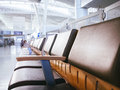 Airport Waiting room area with seats row in Gate Royalty Free Stock Photo
