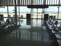 The airport waiting room of international of burgas green area with a view of airfield Royalty Free Stock Images