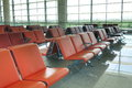 Airport waiting room Royalty Free Stock Photo
