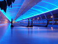 Airport walkway Royalty Free Stock Photography