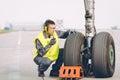 Airport worker mechanic
