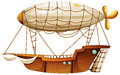 An airship illustration of on a white background Royalty Free Stock Photos