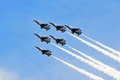 Airshow army jets flying at in new jersey Royalty Free Stock Photo
