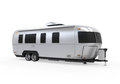 Airstream camper isolated on white background d render Royalty Free Stock Photos
