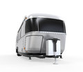Airstream camper isolated on white background d render Stock Photos