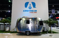 Airstream classic car on display at the th bangkok international motor show march no boundaries mobility march in Royalty Free Stock Image
