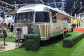 Airstream travel trailer nonthaburi thailand march th showed in thailand the th bangkok international motor show on march Royalty Free Stock Images
