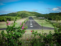 Airstrip on Mustique Island Royalty Free Stock Photo