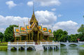 Aisawan dhipaya asana pavilion bang pa in palace thailand located ayuthaya province Stock Photo