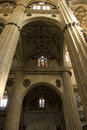 Aisle inside in New Cathedral of Salamanca, Spain Royalty Free Stock Photography