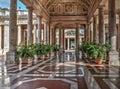 Aisle in Montecatini Terme Royalty Free Stock Photo