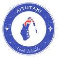 Aitutaki circular patriotic badge.