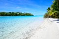 Aitutaki lagoon, One Foot Island Stock Photography