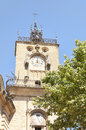 Aix en provence france clock tower located in Stock Photography