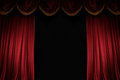 Ajar red curtain Royalty Free Stock Photo