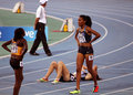 Ajee Wilson from USA the winner of the 800 meters Royalty Free Stock Photography