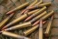 AK 47 ammunition Royalty Free Stock Image