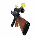 Ak 47 first person,  kalashnikov and sniper Royalty Free Stock Photo