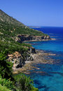 Akamas sea cliffs Royalty Free Stock Photos