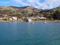 Akaroa Bay, New Zealand Royalty Free Stock Photo