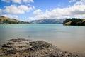 Akaroa French Bay near Christchurch New Zealand Royalty Free Stock Photo