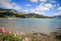 Akaroa French Bay near Christchurch New Zealand Royalty Free Stock Photo