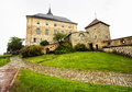 Akershus Fortress in rainy day. Oslo. Norway. Royalty Free Stock Photo